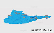 Political Panoramic Map of Herat, single color outside