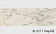 Shaded Relief Panoramic Map of Herat
