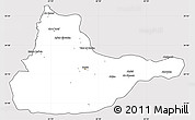Silver Style Simple Map of Herat, cropped outside