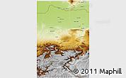 Physical 3D Map of Jowzjan