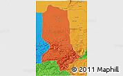 Political 3D Map of Jowzjan