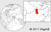Blank Location Map of Jowzjan