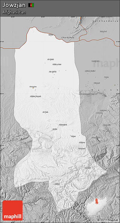 Gray Map of Jowzjan