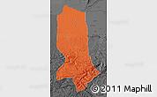 Political Map of Jowzjan, darken, desaturated