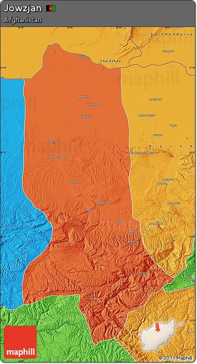 Political Map of Jowzjan