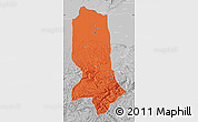 Political Map of Jowzjan, lighten, desaturated