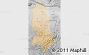 Satellite Map of Jowzjan, desaturated