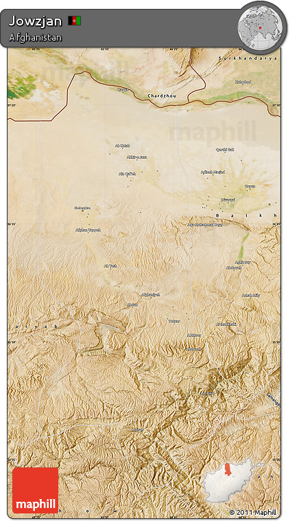 Satellite Map of Jowzjan