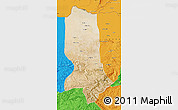 Satellite Map of Jowzjan, political outside