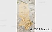 Satellite Map of Jowzjan, semi-desaturated