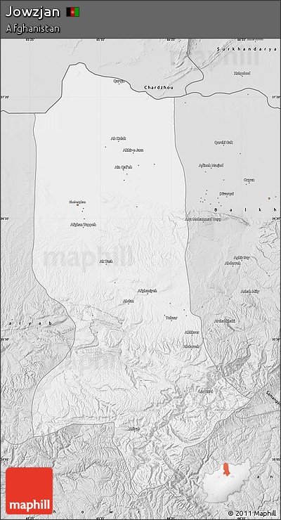 Silver Style Map of Jowzjan