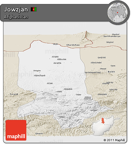 Classic Style Panoramic Map of Jowzjan