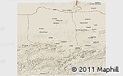 Shaded Relief Panoramic Map of Jowzjan