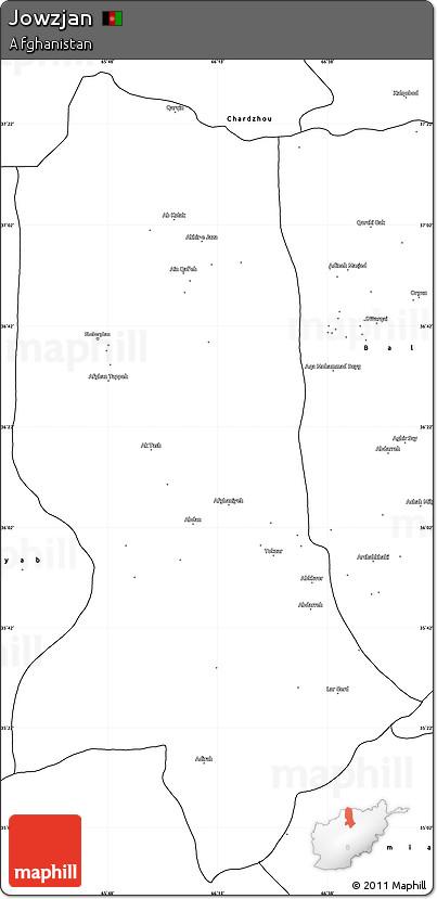 Blank Simple Map of Jowzjan