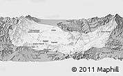 Gray Panoramic Map of Kabul