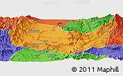 Political Panoramic Map of Kabul