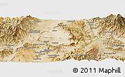Satellite Panoramic Map of Kabul