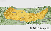 Savanna Style Panoramic Map of Kabul