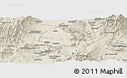 Shaded Relief Panoramic Map of Kabul
