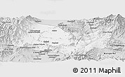 Silver Style Panoramic Map of Kabul