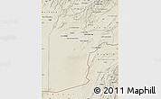Shaded Relief Map of Kandahar