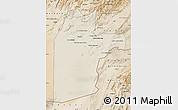 Shaded Relief Map of Kandahar, satellite outside