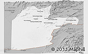 Gray Panoramic Map of Kandahar