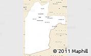 Classic Style Simple Map of Kandahar