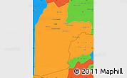 Political Simple Map of Kandahar