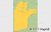 Savanna Style Simple Map of Kandahar