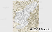 Classic Style 3D Map of Kapisa