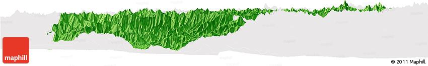 Political Horizon Map of Kapisa, cropped outside