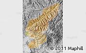 Satellite Map of Kapisa, desaturated