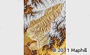 Satellite Map of Kapisa, physical outside