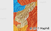 Satellite Map of Kapisa, political outside