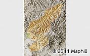 Satellite Map of Kapisa, semi-desaturated