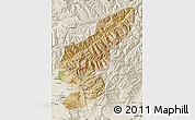 Satellite Map of Kapisa, shaded relief outside