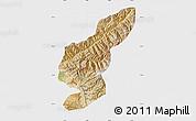 Satellite Map of Kapisa, single color outside