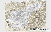 Classic Style Panoramic Map of Kapisa