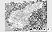 Gray Panoramic Map of Kapisa