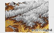 Physical Panoramic Map of Kapisa