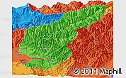 Political Panoramic Map of Kapisa