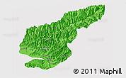 Political Panoramic Map of Kapisa, single color outside