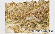 Satellite Panoramic Map of Kapisa