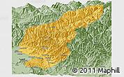 Savanna Style Panoramic Map of Kapisa