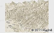 Shaded Relief Panoramic Map of Kapisa
