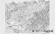 Silver Style Panoramic Map of Kapisa