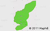 Political Simple Map of Kapisa, cropped outside