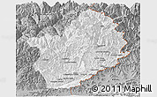 Gray Panoramic Map of Konar
