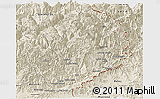 Shaded Relief Panoramic Map of Konar